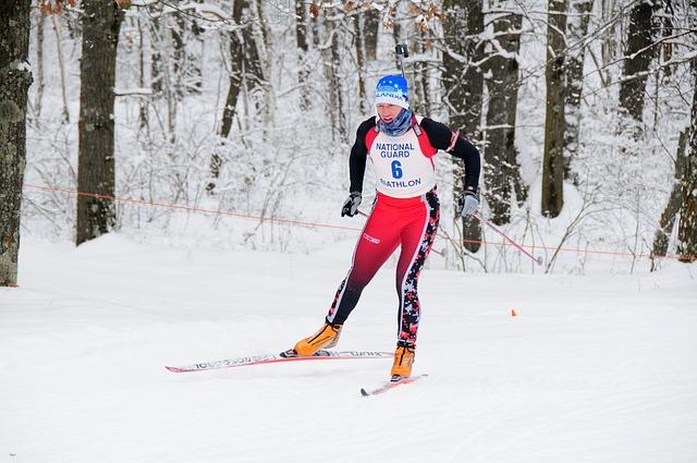 lyžař na běžkách