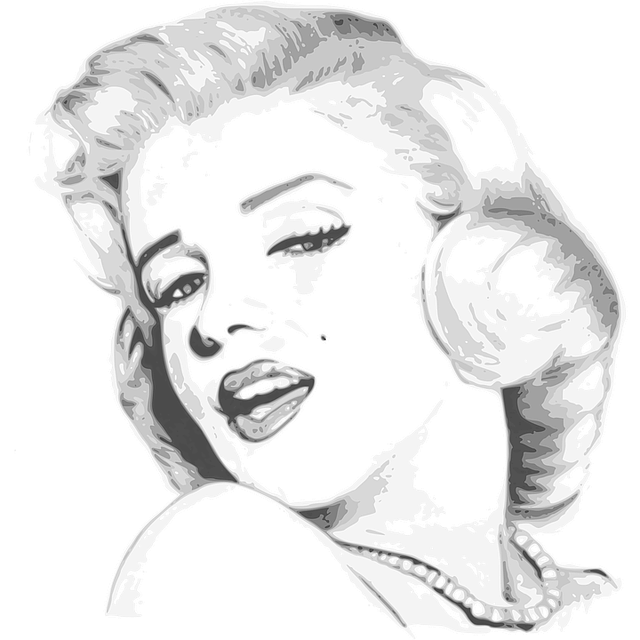 portrét marilyn