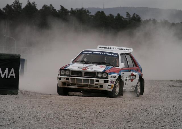 závodní dráha rallye