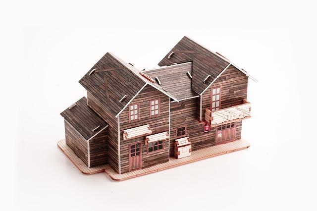 dřevěná miniatura mobilheimu